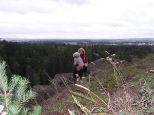 это я - Галина и моя собачка - Катя